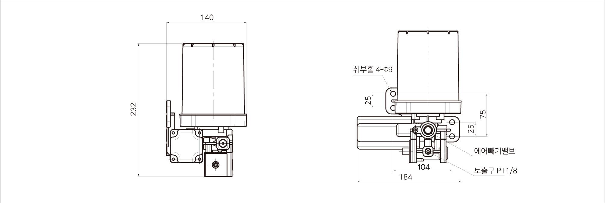 릴리프 용 모터 그리스 펌프 SGP-100-7